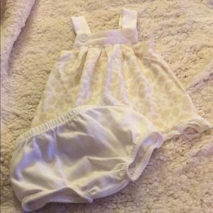 Baby girl tan and white two piece
